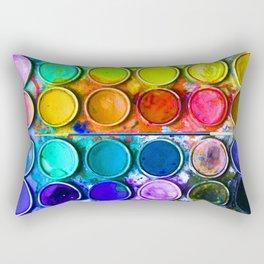 Watercolor Art Palette Rectangular Pillow