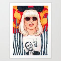 jazz art pop punk Art Print