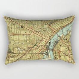 Vintage Map of Toledo Ohio (1938) Rectangular Pillow