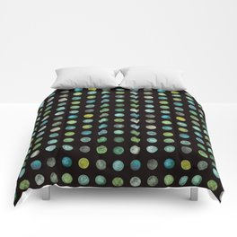 Green Marble Dots Comforters