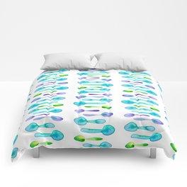 Watercolor Spoon Striped Pattern! Comforters