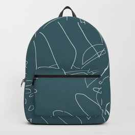 Monstera No2 Teal Backpack