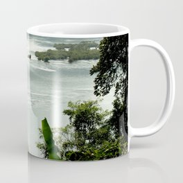Mekong River Tropical Forest Landscape, Laos Coffee Mug