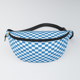 Small Checker Print - Blue and White Fanny Pack