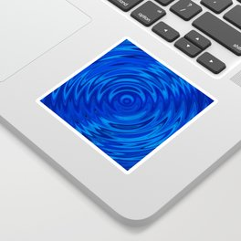 Water Moon Cobalt Swirl Sticker
