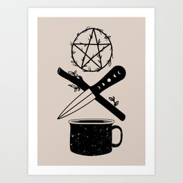 DELUXEWITCH Tarot Suits Art Print