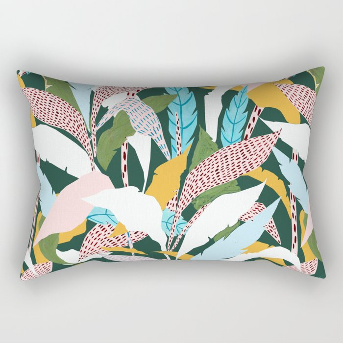 Fragmented Jungles Rectangular Pillow