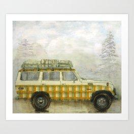 Plaid Land Cruiser Art Print