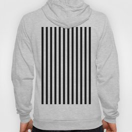 Black & White Small Vertical Stripes - Mix & Match with Simplicity of Life Hoody