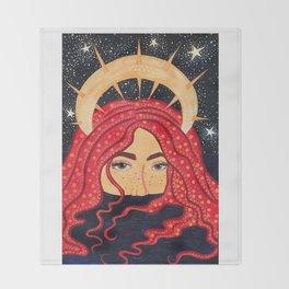 floating goddess Throw Blanket