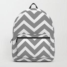 grey, white zig zag pattern design Backpack
