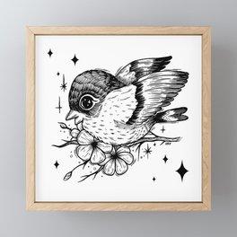 Birb Framed Mini Art Print