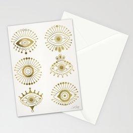 Evil Eyes – Gold Palette Stationery Cards