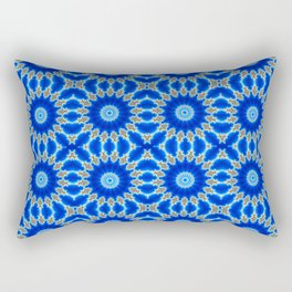 Blue and Yellow Circle Repeating Pattern Rectangular Pillow