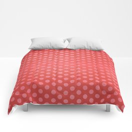 Lots of Dots - Geometric Pattern Design (Red) Comforters