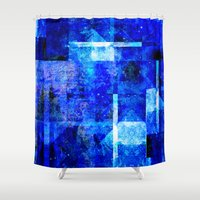 rothko Shower Curtains featuring Sapphire Nebulæ by Aaron Carberry