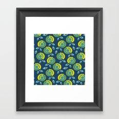 Slice flowers Framed Art Print