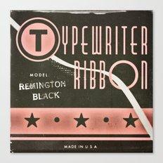 Typewriter Ribbon Canvas Print