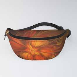 Burning, Abstract Fractal Art With Warmth Fanny Pack