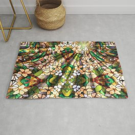 Flower Forest Abstract Rug