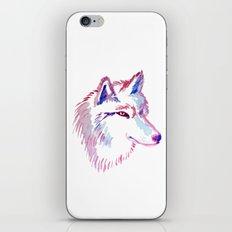 Wolf Watercolor Print iPhone & iPod Skin