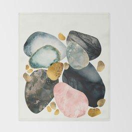 Pebble Abstract Throw Blanket