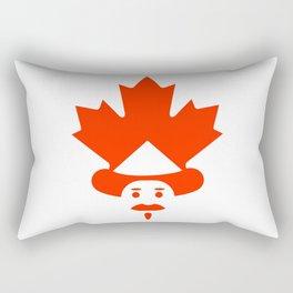 Unique Canadian man icon Rectangular Pillow