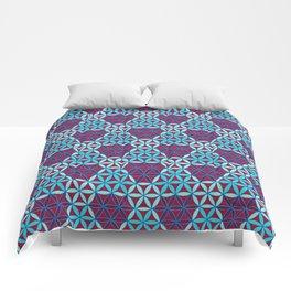 Triangles- optical illusion Comforters