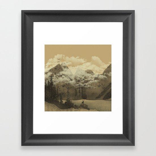 The Mountain Lake Framed Art Print