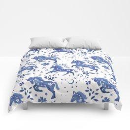 Delft Blue Horses Comforters