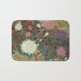 flower【Japanese painting】 Bath Mat