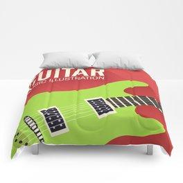 Electric Guitar Poster Comforters