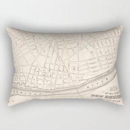 Vintage Map of New Brunswick NJ (1837) Rectangular Pillow
