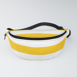Aspen Gold Yellow and White Wide Horizontal Cabana Tent Stripe Fanny Pack