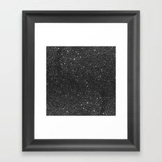 Modern chic elegant trendy faux black glitter Framed Art Print