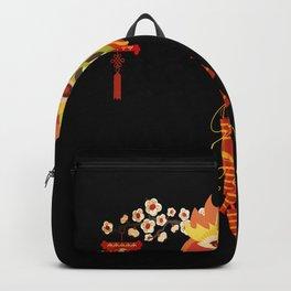 Japan mask Asia Oni Hannya Samurai mask Backpack