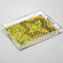 Doodle 16 Yellow Acrylic Tray