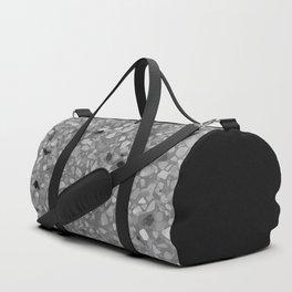 Terrazzo Texture Grey Black #7 Duffle Bag