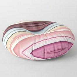 Sandwich cookie stripes Floor Pillow