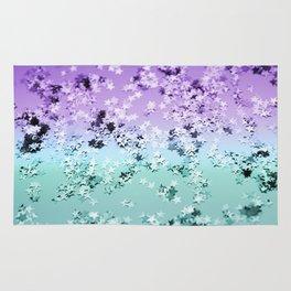 Mermaid Lady Glitter Stars #4 #shiny #decor #art #society6 Rug