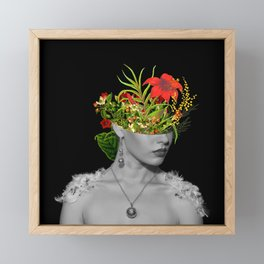 Flower Head Framed Mini Art Print