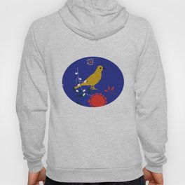 Bird and blossom electric blue Hoody