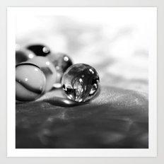 GLASKUGELN - SCHWARZ/WEISS Art Print