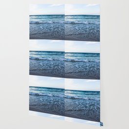 Blue Ocean Waves Wallpaper