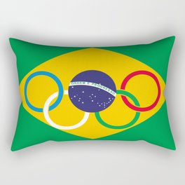 Brazil Olympics Rectangular Pillow