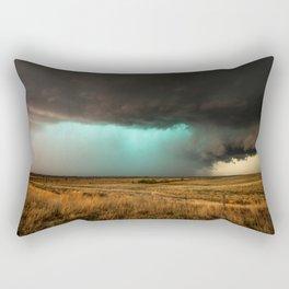 Jewel of the Plains - Storm in Texas Rectangular Pillow