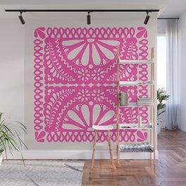 Fiesta de Flores Pink Wall Mural