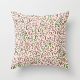 Beams in Pink Throw Pillow