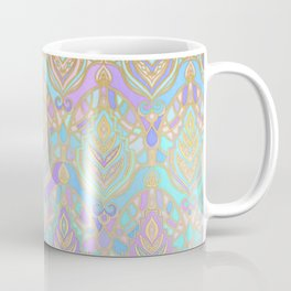 Jade & Blue Enamel Art Deco Pattern Coffee Mug