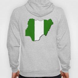 Nigeria Map with Nigerian Flag Hoody